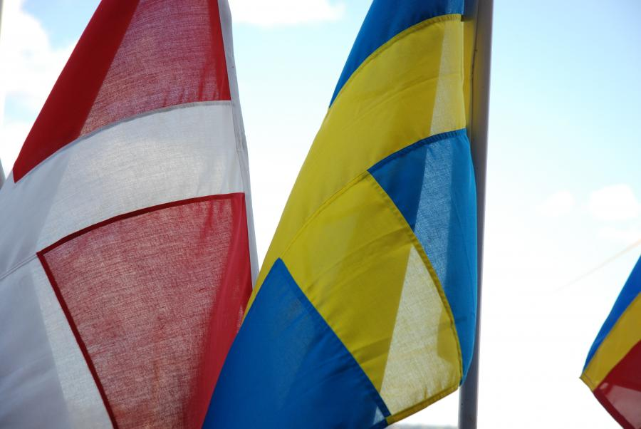 Danske og svenske flag